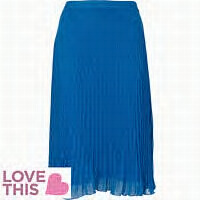 blue pleated chiffon river island