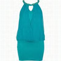 riverisland blue racer mini dress...fuss free effortless style..great for colour blocking orange.