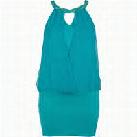 riverisland blue racer mini dress...fuss free effortless style..great for colour blocking orange.