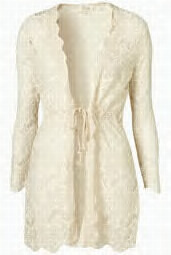 casie jacket by Goldie...appropriate for travelling in style..white/cream and glam..i love!!!!