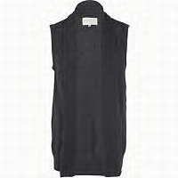 sleeveless cardi will look nice over a shirt tucked into office pants..appropriate size is important