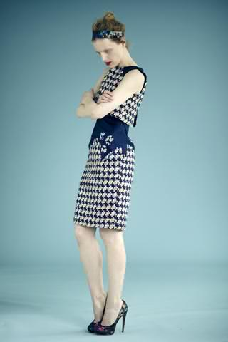 classic shift reinvented in blue at erdem prefall..Kate the dutchess has a thing for erdem..