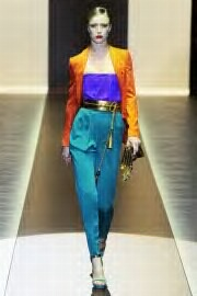 look at the colour blocking here..im absolutely dying for this outfit..swoon worthy.gucci RTW AW11