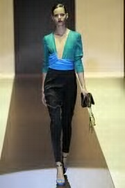 gucci RTw FW11..soft silky tapered pants style,blue,runway to street ASAP