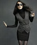 outfit from Karl lagerfeld for macys..clean lines,curvy edges and formal work colours..copy this!!