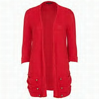 red slouch pocket cardi..perfect with jeans..slim skirts and animal skin--»hotte!!