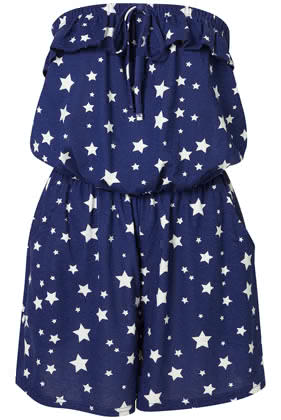 topshop star print bandeau will lot hot with red sandals or jewel tones